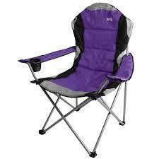 Deluxe Camping Chairs Kestrel Deluxe Heavy Duty Padded Steel Folding Camping Festival