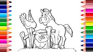 setoys drawing and coloring coloring animals farm coloring cow