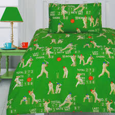 Sports Themed Duvet Covers Cricket Quilt Cover Set Cricket Bedding Kids Bedding Dreams