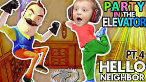 hello neighbor can we party in your elevator scary fnaf theme