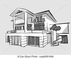 house drawings grayscale drawing house vector outline eps