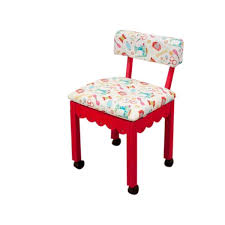 arrow cabinets sewing chair arrow sewing cabinets red wood white patterned fabric sewing table