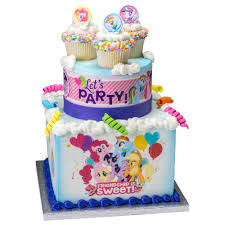my pony birthday cake ideas decopac my pony sweet friendship stacked cake