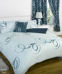 bedroom curtain and bedding sets bumper duvet complete bedding set with matching curtains swirls