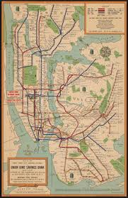 Vintage Maps Maps Vintage Map Shows New York City Subway System In 1954