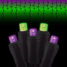 black wire led icicle lights