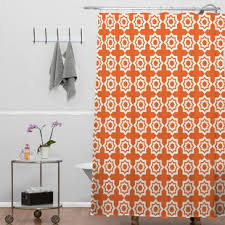 Orange Shower Curtains Modern Orange Shower Curtains Allmodern