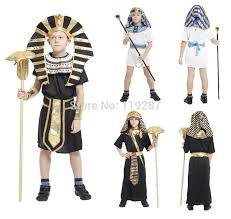 Egyptian Halloween Costumes Kids Kids Egypt Pharaoh Cosplay Costume Halloween Cosplay