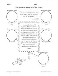 rosary for kids sorrowful mysteries of the rosary cut and paste activity that