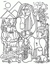 joseph and pharaoh coloring page coloring home
