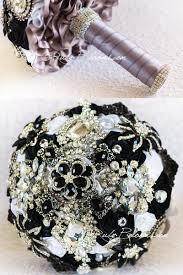 black and white wedding brooch bouquet black wedding ideas theme