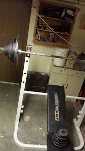 Weider Pro Bench Bench Press And Squat Rack Weider Pro Lx7 With 242 Pounds Of