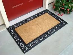 Exterior Door Mat Front Door Mat Rug Coconut Fibers Rubber Doormat Floor Shoes