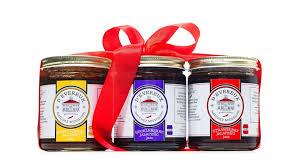 Food Gift Sets Homemade Sweet U0026 Spicy Jams Gift Set Of Gourmet Jams