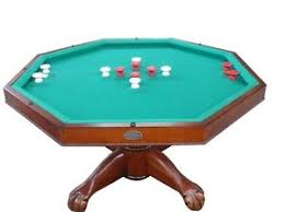 slate bumper pool table 3 in 1 slate bumper pool poker dining table 48 octagon game
