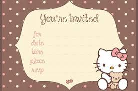 hello kitty invitation templates vertabox com