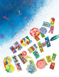 day summer watercolor birthday card by masha d yans
