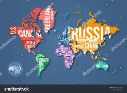 Detailed World Map Vector Detailed World Map Borders Country Stock Vector 412173277