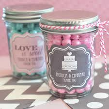 jar favors personalized wedding mini jars glass and wedding