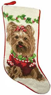 christmas needlepoint terrier dog needlepoint christmas for the