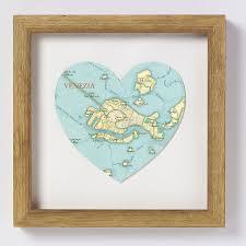 Venice Map Venice Map Heart Print By Bombus Off The Peg Notonthehighstreet Com