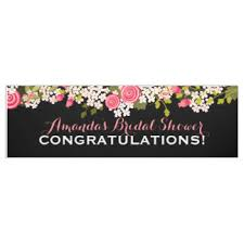 congratulations bridal shower wedding custom banners signs zazzle