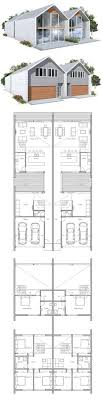 duplex floor plans for narrow lots projeto de duplex pinteres