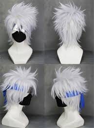 Kakashi Halloween Costume Naruto Hatake Kakashi Short Silver White Cosplay Wigs Free