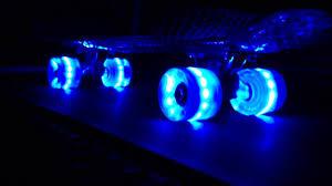 electric skateboard led lights snitto nyc led light up skateboard cruiser youtube