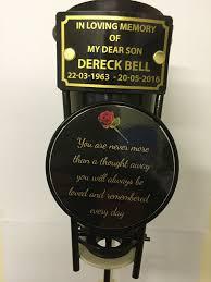 Graveside Flower Vases Personalised In Loving Memory Memorial Grave Pot Spike Flower Vase