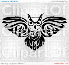 clipart owl logo black and white 1 royalty free vector