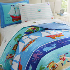 Monkey Bedding Blue Pirate Bedding For Boys Twin Full Queen Comforter Set Cotton