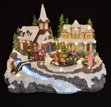 light up xmas pictures animated musical light up xmas village scene color changing led