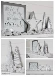 White Christmas Mantel Ideas by Diy Christmas Mantel And Decor Ideas Landeelu Com