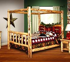 Cheap Log Bed Frames Rustic Cedar Log Bed King Size Canopy Bed
