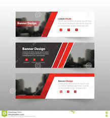 red abstract triangle corporate business banner template