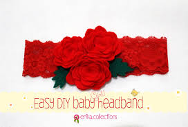 bando headbands easy diy baby headband tutorial redrose erika felt flanel