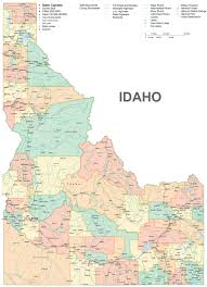 Map Of Idaho State by Idaho Travel Guide