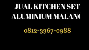 Kitchen Set Aluminium Jual Kitchen Set Aluminium Malang 081233670988 Youtube