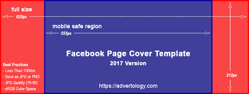 facebook cover template facebook page cover template advertology