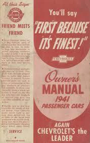 1941 chevy owner u0027s manual