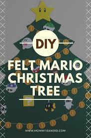 diy felt mario christmas tree mommy is a nerd diy or die