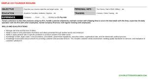 co founder cover letter u0026 resume