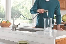 moen kitchen faucet with sprayer moen 7294csl arbor one handle high arc pullout kitchen faucet