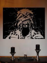 ebay iron maiden eddie powerslave metal music vinyl wall sticker