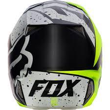 fox motocross helmets sale fox racing 2017 mx new v2 nirv grey flo yellow dirt bike