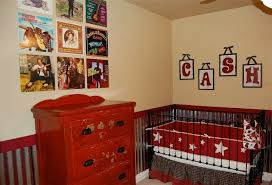 small homemade baby boy nursery ideas with blue sky stained wall