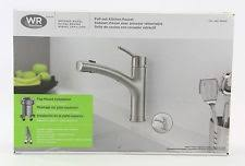 wr kitchen faucet waterridge water ridge brushed nickel pull out kitchen faucet top