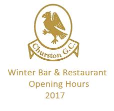 churston bar restaurant opening times winter 2017 2018