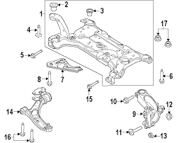 ford focus suspension diagram parts com ford susp crossmember front either side partnumber